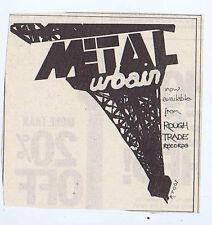 METAL URBAIN press clipping 1978 approx9x9cm  (28/1/78)