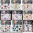 NEW Kids Temporary Tattoos Stickers Avengers Dora Batman Spider Man Sofia Pony