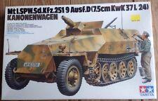 35147 TAMIYA WWII German Sd.Kfz 251/9 Kanonenwag 1/35 Model Kit New Sealed