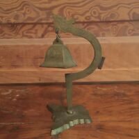 Vintage Chinese Brass Dragon Table Bell