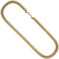 8mm Kette Collier aus 925 Silber vergoldet Halskette Halsschmuck 45cm, Damen