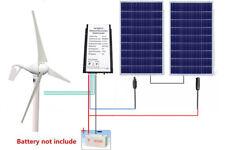 600W/H 24V Hybrid System Kit: 400W DC Wind Turbine Generator w/200W Solar Panel