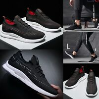 Men's Athletic Breathable Running Sneakers Lace Up Shockproof Trainers Shoes