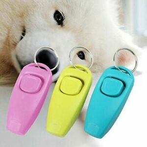 RANDOM COLOUR DOG PET TRAINING CLICKER/TRAINER TEACHING TOOL/DOGS/PUPPY NEW