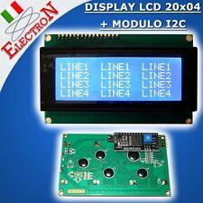 MODULO DISPLAY LCD 20X4 2004 RETROILLUMINATO + SERIALE I2C / IIC PER ARDUINO