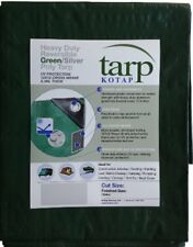 Heavy Duty Canopy Tarp Tent Roof 8 mil Thick Fabric Weave Uv Blocking, 20x40 ft