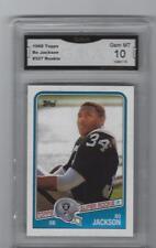 BO JACKSON 1988 TOPPS NFL FOOTBALL #327 ROOKIE CARD GRADED GEM MINT 10 CENTERED