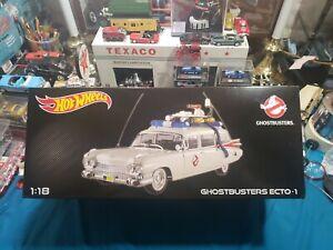 Hot Wheels Elite Ghostbusters 1/18 Ecto 1 BEAUTIFUL VERY NICE GHOSTBUSTERS ECTO