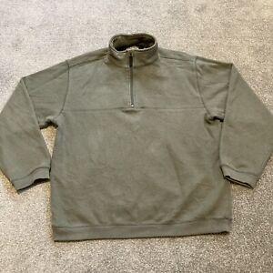 Mens Green Izod Perform X Jumper Pullover 1/4 Zip Size Large