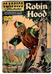 CLASSIC COMICS #7 HRN 166 a Golden Age Classic Illustrated Comic  ROBIN HOOD