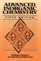 Advanced Inorganic Chemistry Hardcover Frank Alber Cotton
