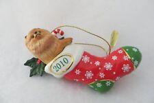 """""""Stocking Stuffer"""" Danbury Mint 2010 Pomeranian Annual Ornament - Mib"""