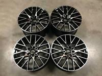 "19"" 788M M2 Competition Style Wheels Gloss Black Machined BMW F20 F21 1 2 Series"