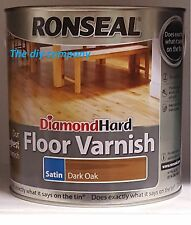 Ronseal Diamond Hard Floor Varnish 2.5l & 5l Gloss Satin Matt NEXT DAY DELIVERY