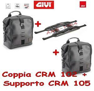 GIVI BORSA LATERALE Universale CRM102 16 LT.mm 360x300x180 + CRM105 GIVI  COPPIA