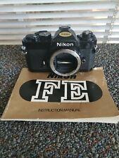 Nikon FE 35mm SLR Film Camera Black & Original Manual