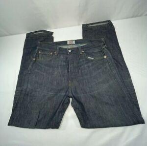 Levi's Original Fit 501 100% Cotton Jeans Straight Leg 34x32 Button Fly Dark