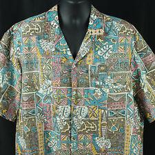 Royal Creations Hawaiian Shirt 2XL Reverse Print Hawaii Tribal Luau Extra Large