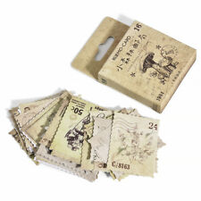 46pcs/lot Vintage Stamps Stationery Decorative Notebook Diary Stickers