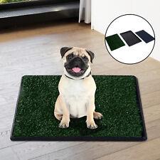 Inodoro de Bandeja para Perro Césped Artificial 3 Capas Lavable y Desmontable