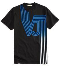 71d4b39e Mens Authentic Versace Jeans VJ Logo T-shirt Black/blue Large