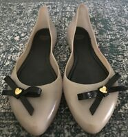 Mel by Melissa jelly flats  EUR  Black with Gray bow Size 8-81/2