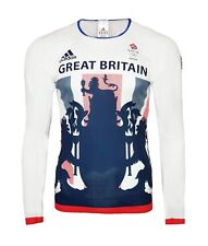 Mens Medium adidas Team GB Comp Long Sleeve Top T Shirt Running Training Cycling