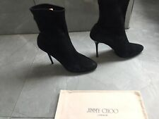 Jimmy Choo 40,5 Uk 7 Black Suede Ankle Boots, Classy!