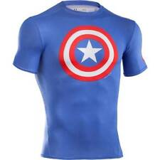 Under Armour Captain America Classic Logo Alter Ego Compression Tee Shirt Men'S