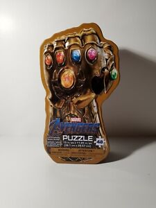 Marvel Avenger Surprise Puzzle Tin Thanos Guantlet Glove . New in box