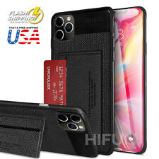 Slim Leather fiber card slot kickstand Bumper Case For iPhone XR 11 /Pro Max 8