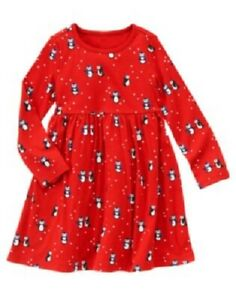 NEW Red GYMBOREE Winter Penguin DRESS Size 12 NWT