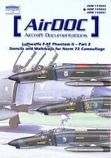 AirDoc Decals 1/48 LUFTWAFFE F-4F PHANTOM II Norm 72 Camouflage STENCILS
