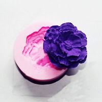 Kuchen Kerze Dekor DIY 3D Pfingstrose Blume Form Fondant Mold Silikon Sugarcr TQ