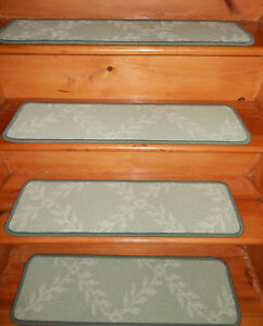 13 Step  9'' x 30'' 1 Landing 30'' x 30'' Tufted Woven carpet Wool Stair Treads.