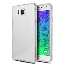 Étuis, housses et coques transparents Samsung Galaxy Alpha en silicone, caoutchouc, gel pour téléphone mobile et assistant personnel (PDA)