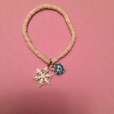 Silver Plated Stretch Bubble Charm Bracelet By Estella Bartlett