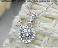 Sparkling 1.74 ct Off White Yellow Moissanite .925 Sterling Silver Pendant Z06