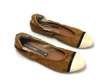 MATT BERNSON NEW $143 Suede Leather Cap Toe Studded Ballet Flats Shoes Size 6 M