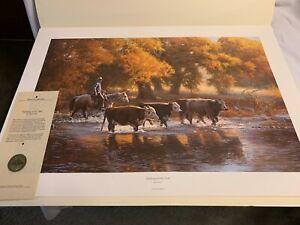 The Connally Collection GATHERING AT THE CREEK Tim Cox #14 Print Ltd 1984