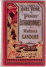JULES VERNE HETZEL : MATHIAS SANDORF- bannière argentée