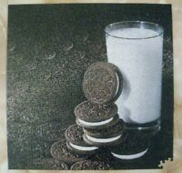 Springbok Puzzle A Kid'll Eat the Middle Oreo Cookies & Milk 500 Pc Minus 2