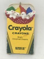 "1987 Hallmark Keepsake Crayola Christmas Ornament ""Bright Christmas Dreams"""