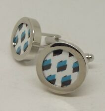 Brand New Team AG2R cycling cuff links pair Silver