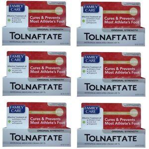 6 Antifungal Cream Tolnaftate USP 1% Compare to Tinactin Each 1 oz 08/2023