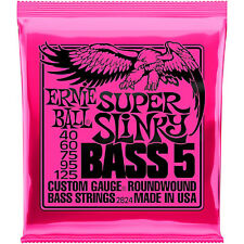 **ERNIE BALL SUPER SLINKY 40-125 ELECTRIC BASS GUITAR STRINGS 2824 (5-STRING)**