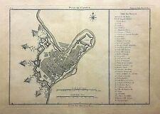 Capua - Pianta della Città - Caserta - De la Lande - 1786 - Incisione in rame