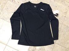 2XU Women's Long sleeve XVent Top Black Large NEW