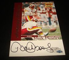 Mark Moseley Redskins Stephen F Austin State 1999 Fleer Sports Certified Auto JG