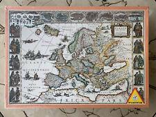#5440 Piatnik Antique 1663 Europe Map 4000 pc puzzle RARE!!!